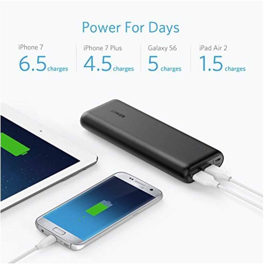 Anker PowerCore 20100 - Ultra High Capacity Power Bank with 4.8A Output, PowerIQ Technology for iPhone, iPad and Samsung Galaxy and More
