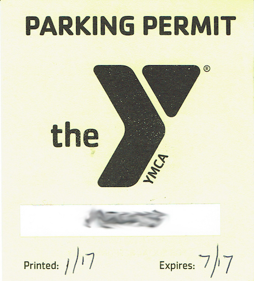 YMCA Parking Permit